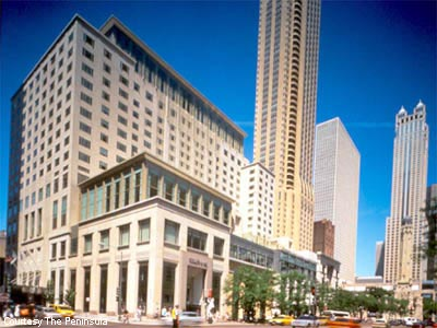The best new business hotels of 2001 for Peninsula hotel chicago