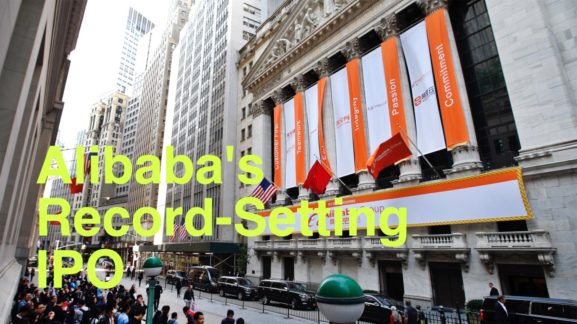 Alibaba's Record-Setting IPO