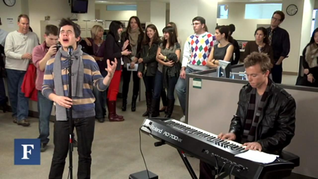 David Archuleta Performs Have Yourself A Merry Little Christmas for Forbes
