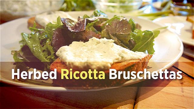 Cooking With Ina Garten: Herbed Ricotta Bruschettas