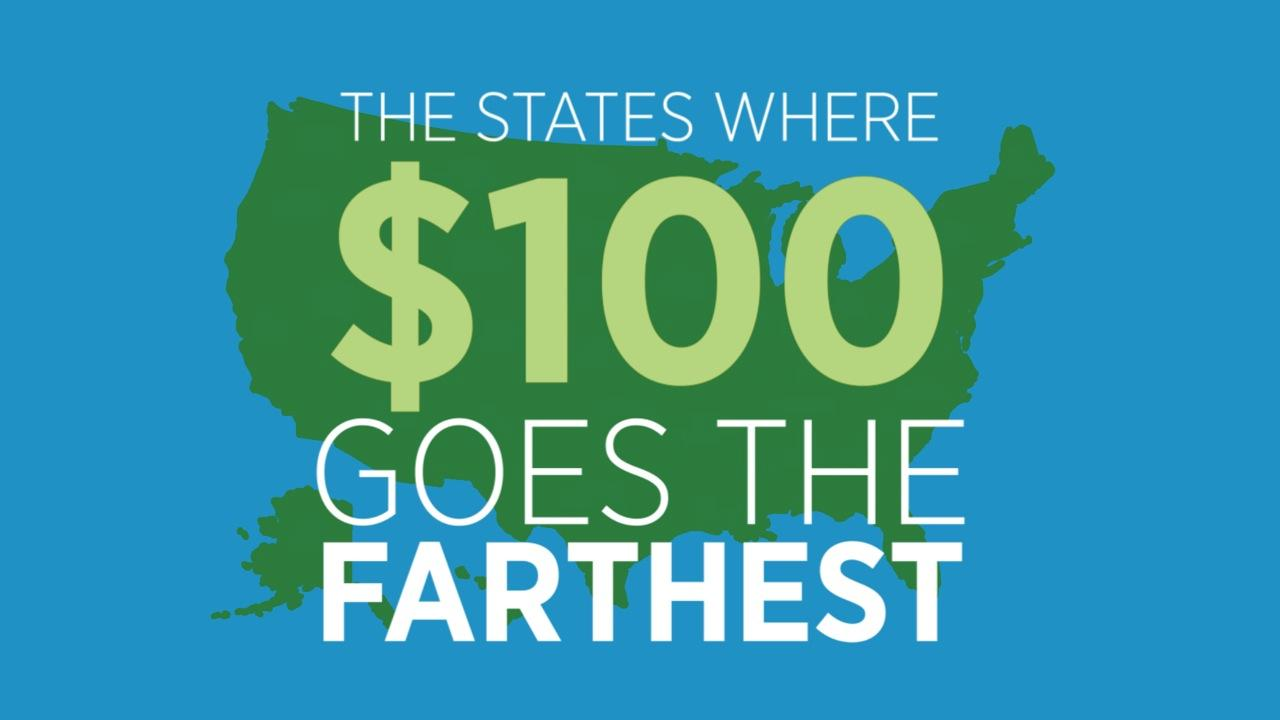 The States Where $100 Goes The Farthest