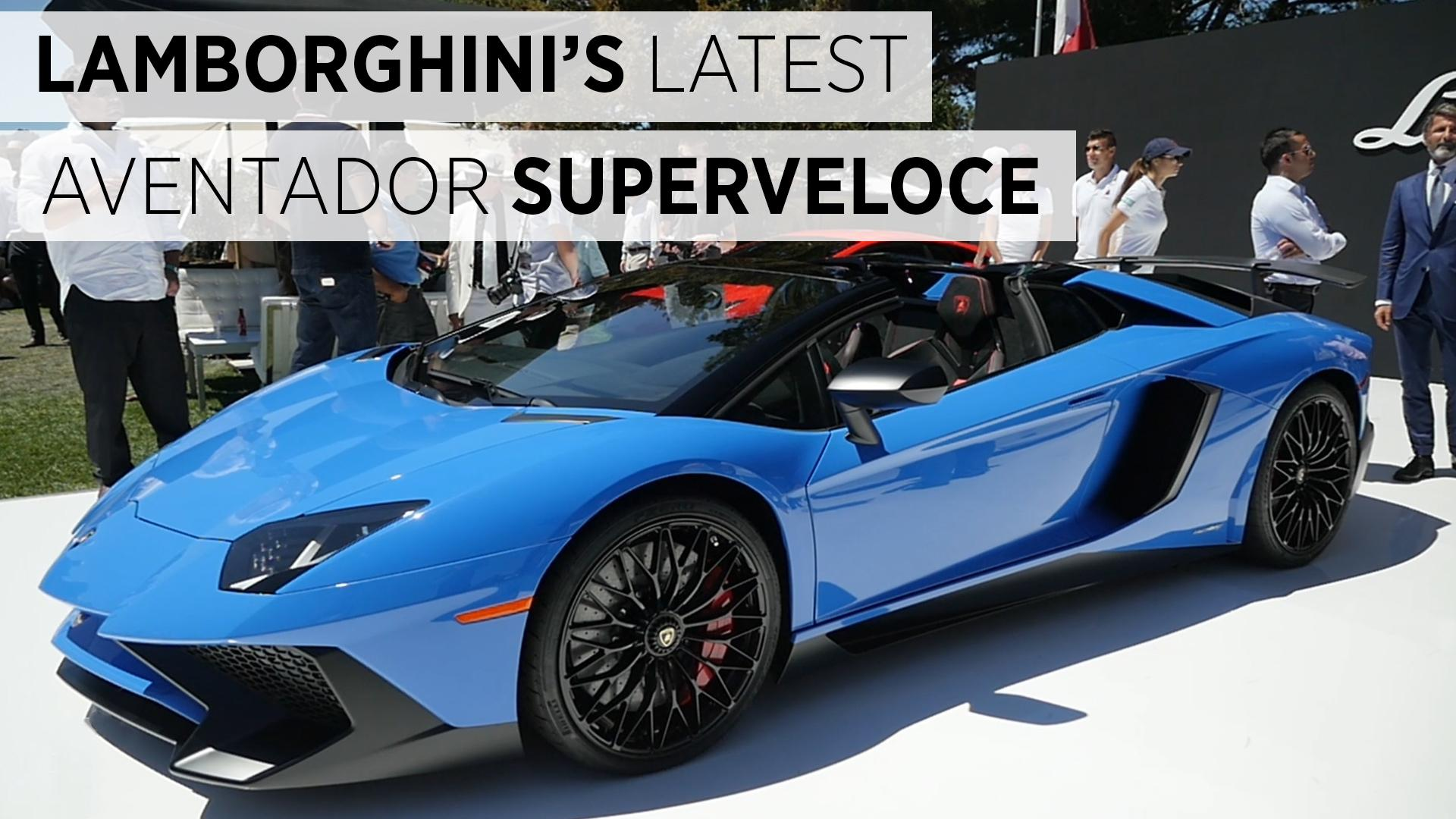 Lamborghini's Latest Aventador Superveloce (Superfast)