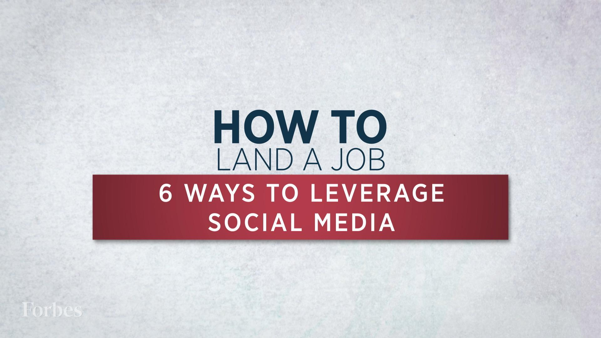 How To Land A Job Using Social Media