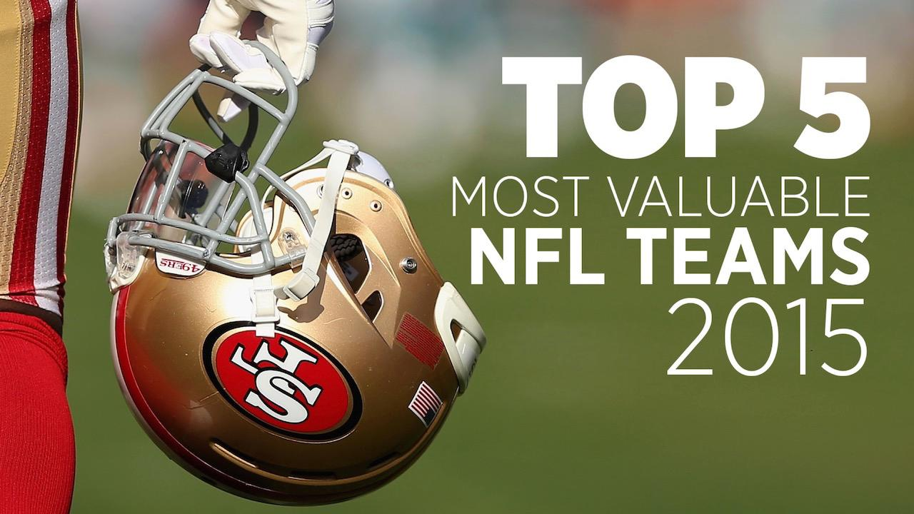 Top 5 Most Valuable NFL Teams 2015