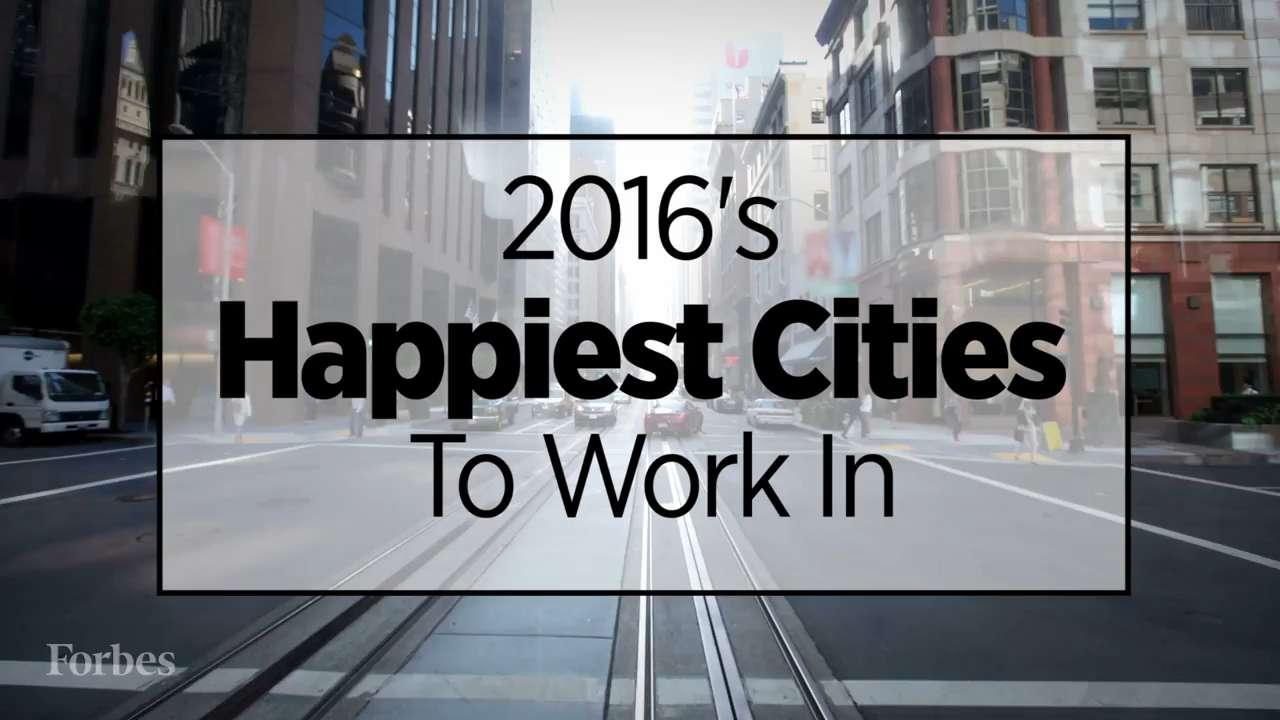 2016's Happiest Cities To Work