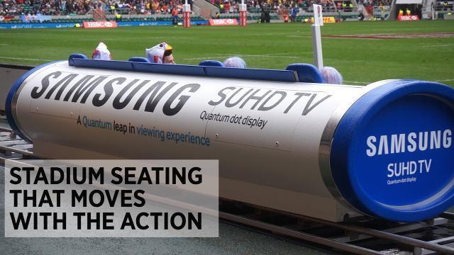 Samsung's High-Speed Stadium Seating Moves With The Action