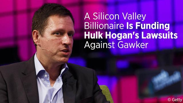 A Silicon Valley Billionaire Is Funding Hulk Hogan's Lawsuits Against Gawker