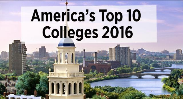 America's Top 10 Colleges 2016