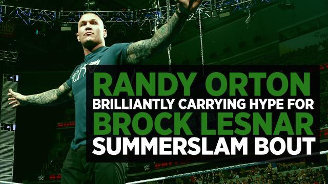 Randy Orton Is Brilliantly Building Hype For Brock Lesnar WWE Summerslam Bout On His Own