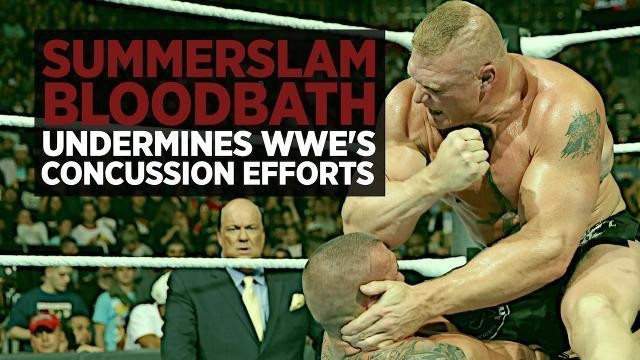 Brock Lesnar Vs. Randy Orton Summerslam Bloodbath Undermines WWE's Concussion Efforts