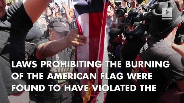 Trump Tweets Flag Burning Should Be Illegal