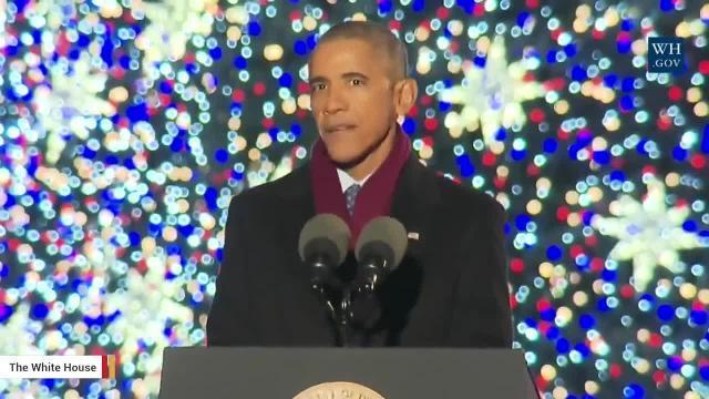 President Obama Delivers 'Message Of Unity' During Christmas Tree Lighting