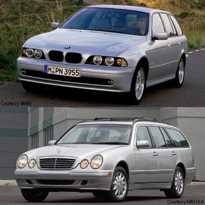 Wagon Wars BMW 525i Versus MercedesBenz E320