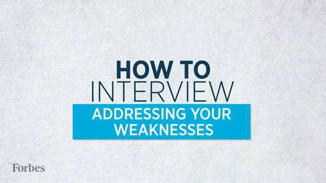 interview weaknesses list