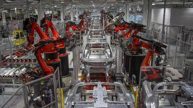 A Look Inside The Tesla Factory